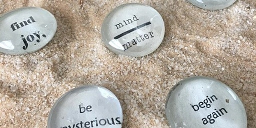 Sip+Make+Take Glass Affirmation Gems