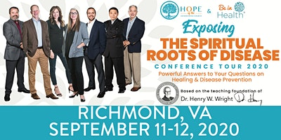 Exposing the Spiritual Roots of Disease Tour- Sept 2020-Richmond, VA