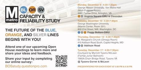 Metro Blue\Orange\Silver Lines Study in Tysons  McLean, VA tickets