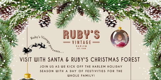 Ruby's Vintage Home for the Holidays - Magical Christmas Forest and Santa