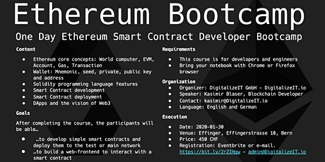 Ethereum Bootcamp tickets