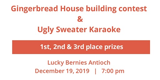 Gingerbread house building contest & Ugly sweater karaoke