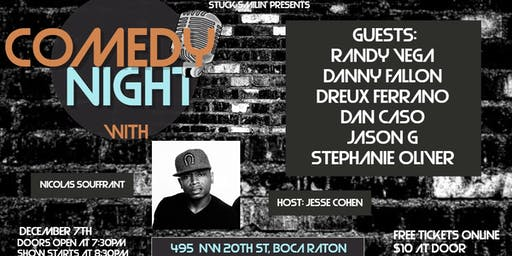 """Comedy night with """"Nicolas Souffrant"""" at the Artful Dodger"""