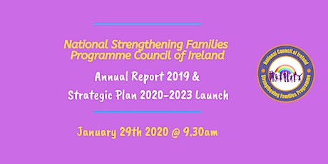 National SFP Council of Ireland Strategic Plan & Annual Report 2019 launch tickets