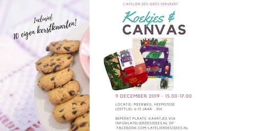 Koekjes & Canvas - Kerstboom halen :-) -  Schilderworkshop kinderen