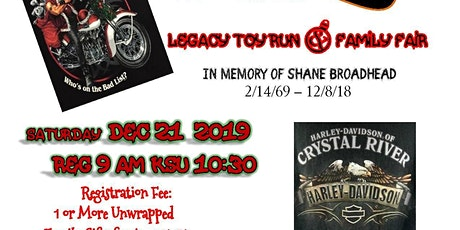 "Tat's ""All 4 the KidS' Legacy Toy Run & Family Fair tickets"
