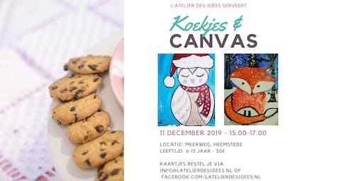 Koekjes & Canvas - Winterdieren -  Schilderworkshop kinderen