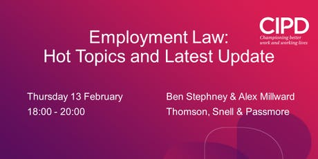 Employment Law : Hot Topics and Latest Update tickets