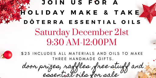 Holiday Essential Oil Make & Take