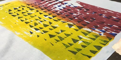 Print creating at Belmont with The Design House.