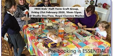 FREE Kids' Half-Term  Craft Club  [ Must Pre-book] tickets