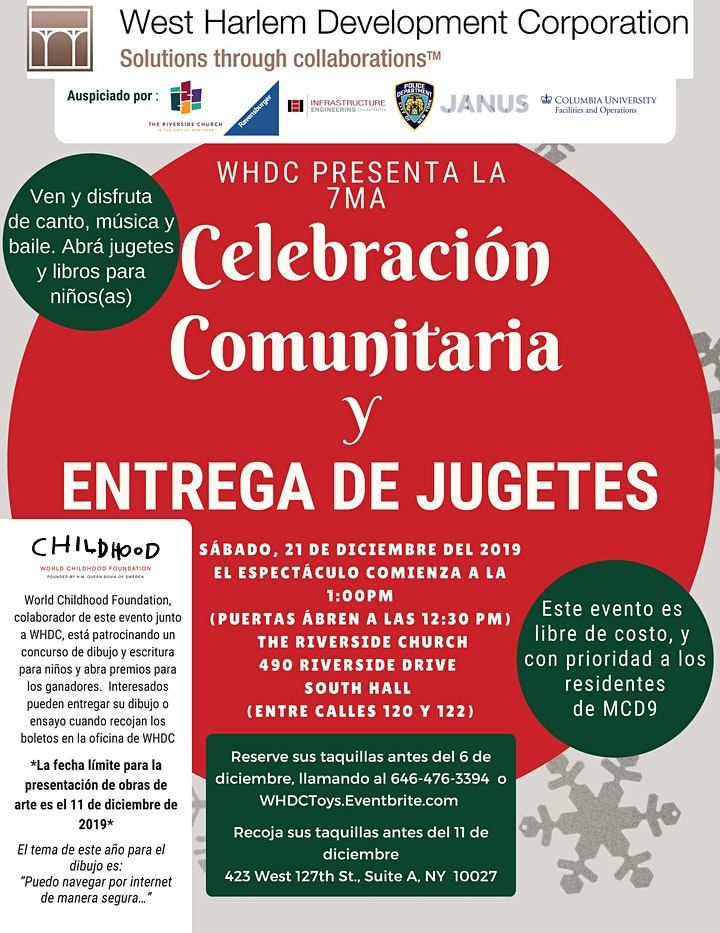 WHDC 7th Annual Community Holiday Celebration image