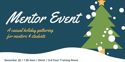 Holiday Mentor Day - CANCELED
