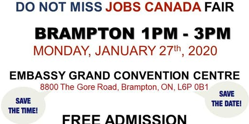 Brampton Job Fair - January 27th, 2020