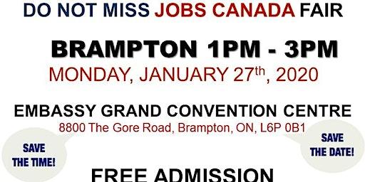 Brampton Job Fair - January 27th, 2020