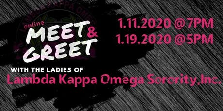 2020 Lambda Kappa Omega Sorority, Incorporated Online Meet and Greet tickets