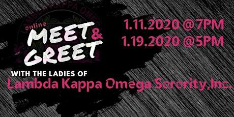 2020 Lambda Kappa Omega Sorority, Incorporated Online Meet and Greet tickets