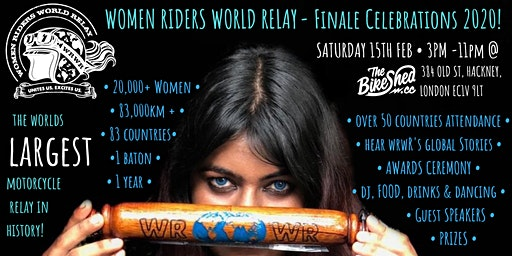 Women Riders World Relay - Finale Celebration 2020 @ The Bike Shed, London