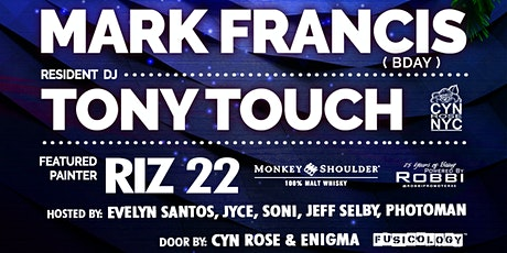 Funkbox NYC Sundays with resident Tony Touch and Mark Francis bday bash tickets
