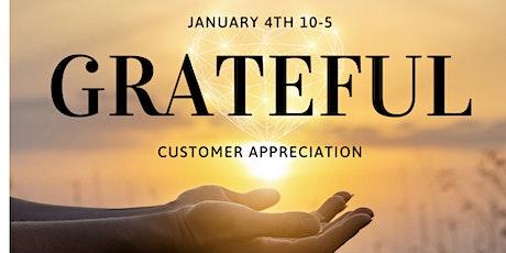 Customer Appreciation tickets