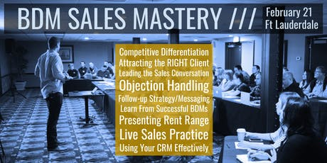 BDM Sales Mastery Workshop: The Ultimate Event for PM Sales Professionals tickets