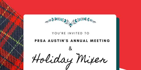 PRSA Holiday Mixer and Annual Meeting tickets