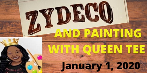 ZYDECO AND PAINTING WITH QUEEN TEE