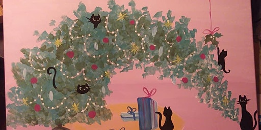 Merry Catmas Paint Event at Walters Bookstore Salem