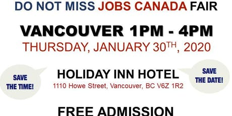 Vancouver Job Fair – January 30th, 2020 tickets