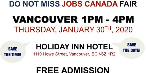 Vancouver Job Fair – January 30th, 2020