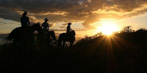 Twilight Horseback Trail Ride and Bonfire