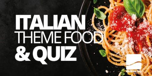 Italian Theme Food and Quiz Night