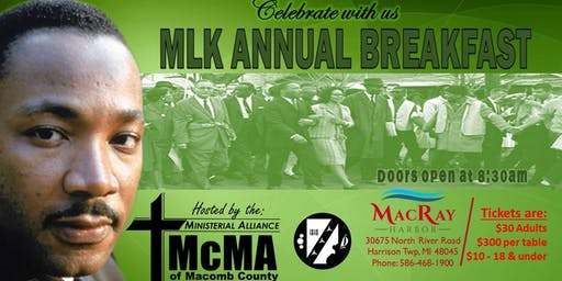 MCMA ANNUAL MLK BREAKFAST