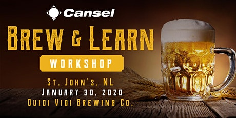 Cansel Brew & Learn Workshop in St. John's - January 30, 2020 tickets