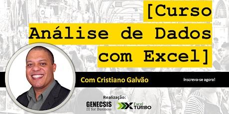 Curso Análise de Dados com Excel ingressos