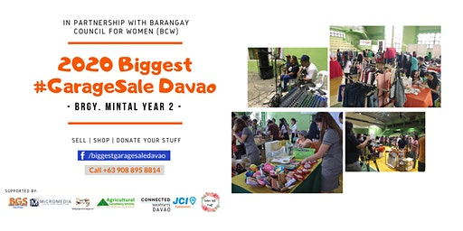 2020 Biggest #GarageSale Davao - Mintal Year 2