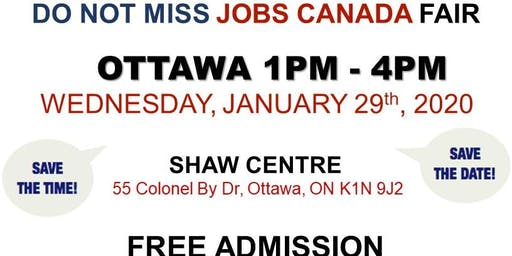 OTTAWA JOB FAIR - January 29th, 2020