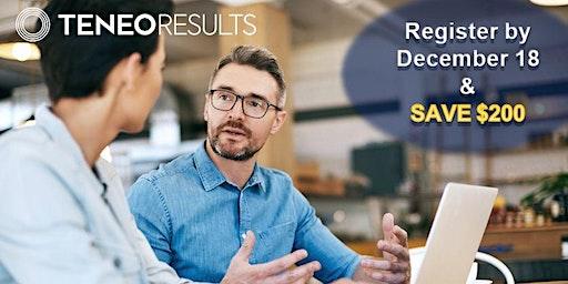 Teneo Results - Purposeful Sales Strategies - Open Sales Training Program - Vancouver March 31-April 1, 2020 (6-month Program)