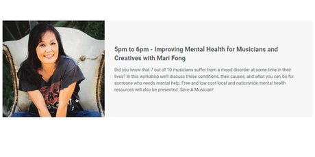 Improving Mental Health for Musicians and Creatives with Mari Fong tickets