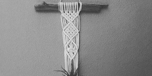Macrame Hanging Planter & Air Plant Wall Piece