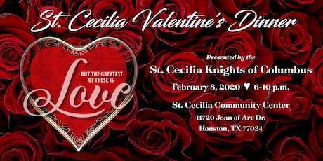 2020 St Cecilia KoC Valentine Dinner tickets