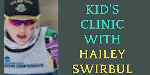 Hailey Swirbul Kids Skate Ski Clinic