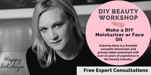Make Your Own Skincare Workshop: Moisturizer or Face Oil  & Expert Consultations