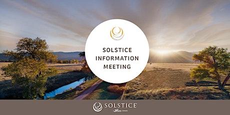 SOLSTICE INFORMATION MEETING tickets