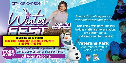 City of Carson's WinterFest SNOW RUN!