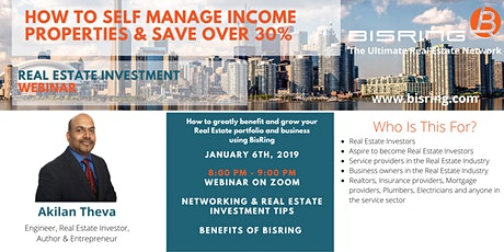 Real Estate Investment Webinar: How to Self Manage Income Properties & Save Over 30% tickets