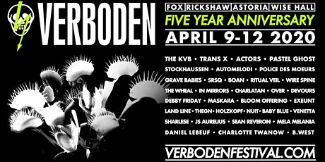 Postponed: The KVB with ACTORS, guests - Verboden 2020 tickets