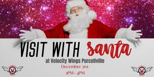 Visit with Santa at Velocity Wings Purcellville