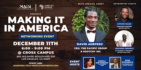 Diaspora Night - Making it in America tickets