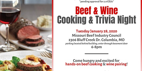 Beef and Wine Cooking and Trivia Night tickets